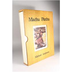 Machu Picchu, limited edition book by Michael Andrews, signe