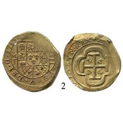 Mexico City, Mexico, cob 8 escudos, 1714, oMJ.