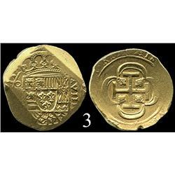 Mexico City, Mexico, cob 8 escudos, (17)15, oM(J).