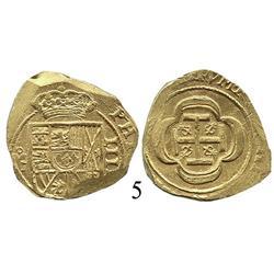Mexico City, Mexico, cob 4 escudos, (1714), oMJ, Mint State.