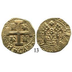 Lima, Peru, cob 8 escudos, 1727M.