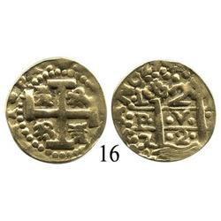 Lima, Peru, cob 2 escudos, 1727M, very rare.