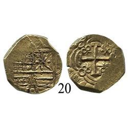 Bogotá, Colombia, cob 2 escudos, 1699.