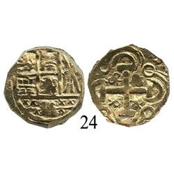Bogotá, Colombia, cob 2 escudos, posthumous Charles II.
