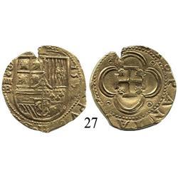 Seville, Spain, cob 4 escudos, 1597/6B.