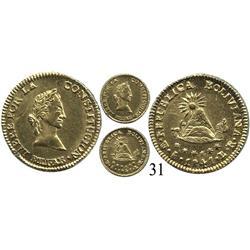 Potosí, Bolivia, ½ escudo, 1841LR.