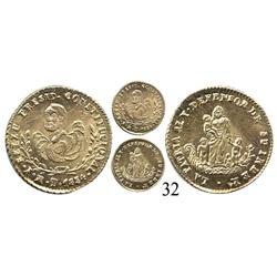 Potosí, Bolivia, ½ escudo proclamation medal, 1854.