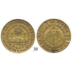 Santiago, Chile, 8 escudos, 1834IJ.
