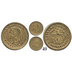 Medellín, Colombia, un peso, 1872/1.