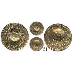 Costa Rica, lion counterstamp (Type VI, 1849-1857) on Central American Republic ½ escudo, 1848JB.