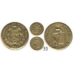 Costa Rica, ½ escudo, 1864JB.