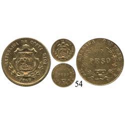 Costa Rica, un peso, 1866.