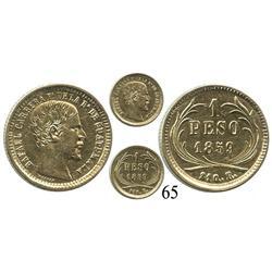 Guatemala, un peso, 1859R, Rafael Carrera.