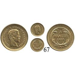 Guatemala, 4 reales, 1860R, Rafael Carrera.