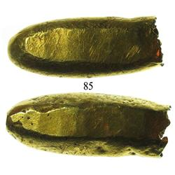 Cut end of an Anglo-Saxon gold ingot (ca. 800 AD).
