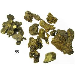 Small lot of natural gold nuggets and flakes, from the Espadarte (1558).