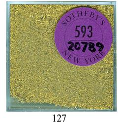 Lot of natural gold flakes and dust from the SS Central America (1857) in original Sotheby's packagi