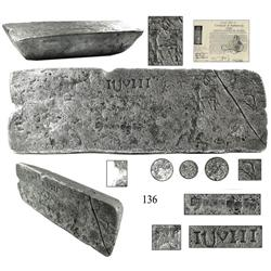 Large silver bar #580 from the Atocha (1622).