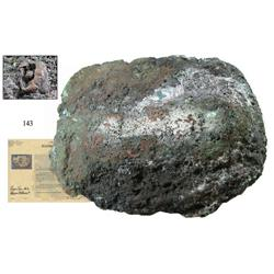 Large, mounded copper ingot from the Atocha (1622).