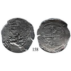 Mexico City, Mexico, cob 8 reales, Philip III, assayer not visible.