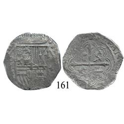 Mexico City, Mexico, cob 4 reales, Philip II or III, oMF.