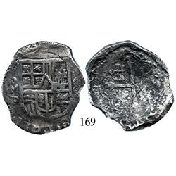 Mexico City, Mexico, cob 8 reales, Philip III, oMD, Grade 2 (estimated).