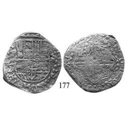 Potosí, Bolivia, cob 8 reales, 1621(T), Grade 2.