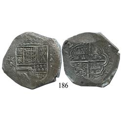 Cartagena, Colombia, cob 8 reales, 1622A, very rare, choice Grade 1, Plate Coin in the Atocha Resear