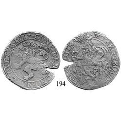 """Overijssel, United Netherlands, """"lion"""" daalder, 1617."""