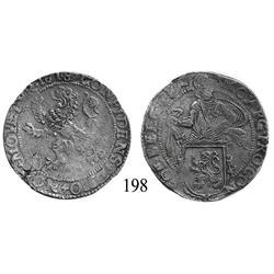 """Utrecht, United Netherlands, ½ """"lion"""" daalder, 1618, rare denomination."""