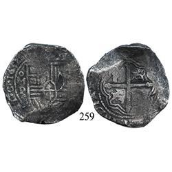 Mexico City, Mexico, cob 8 reales, 1652, oMP.