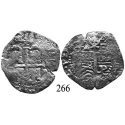 Potosí, Bolivia, cob 4 reales, 1658E.