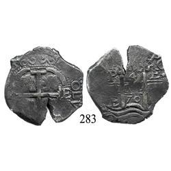 Potosí, Bolivia, cob 4 reales, 1670E.