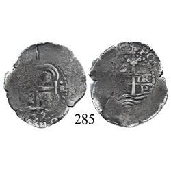Potosí, Bolivia, cob 2 reales, 1659E.