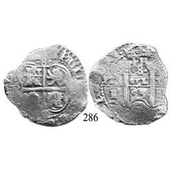 Potosí, Bolivia, cob 8 reales, 1655E.