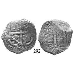 Potosí, Bolivia, cob 8 reales, 1673E.