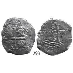 Potosí, Bolivia, cob 8 reales, 1675(E).