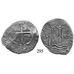 Potosí, Bolivia, cob 8 reales, 1677E.