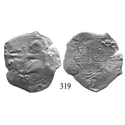 Potosí, Bolivia, cob 8 reales, 1679V.
