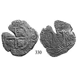 Potosí, Bolivia, cob 8 reales, 1680V.