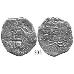 Potosí, Bolivia, cob 4 reales, 1679C.