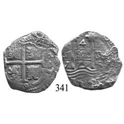 Potosí, Bolivia, cob 4 reales, 1679V.