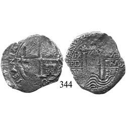 Potosí, Bolivia, cob 4 reales, 1680V.