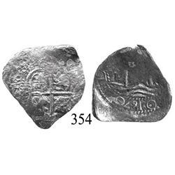 Potosí, Bolivia, cob 2 reales, 1670E.