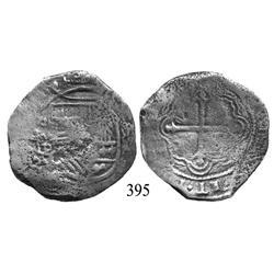 Mexico City, Mexico, cob 8 reales, oMP (mid-1600s).