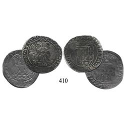Lot of 2 Zwolle arendschellings of the Holy Roman Empire (Rudolf II, 1576-1612, and Matthias I, 1612