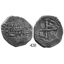 Mexico City, Mexico, cob 8 reales, 1714, oMJ.