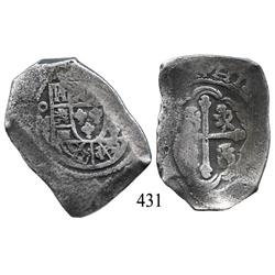 Mexico City, Mexico, cob 8 reales, Philip V, oMJ.