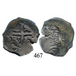 Potosí, Bolivia, cob 4 reales, 1708Y.
