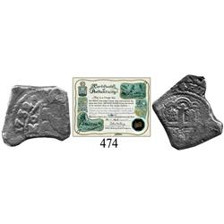 Mexico City, Mexico, cob 4 reales, 1732, oM(F).
